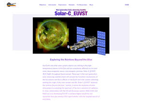 The Solar-C_EUVST web site in English